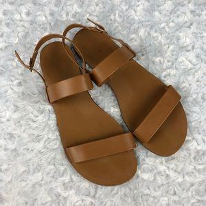 J Crew 2 Strap Sandals Tan Size 7